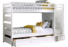 picture of Ivy League White Twin Step Bunk Bed  from Bunk Beds Furniture
