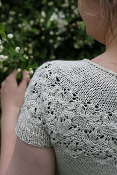 Blooming Meadow pattern by Dieuwke Schack-Mulligen - Pullover stricken Lace Dress Pattern, Skirt Pattern Free, Crochet Lace Dress, Knit Crochet, Summer Knitting, Easy Knitting, Knitting Patterns Free, Crochet Summer, Lace Sweater