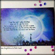 #weihnachten naht! #karte mit #stempel von #indigoblu #stempellädle #diy #christmas #cardmaking #card #mond #moon #midnight