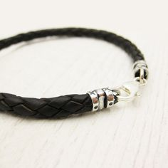 Mens Bolo Braided Braclet / Antiqued Brown Leather and by byjodi, $45.00