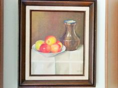 Mid Century Framed Art / 1960's Folk Painting by YourGreatestStory