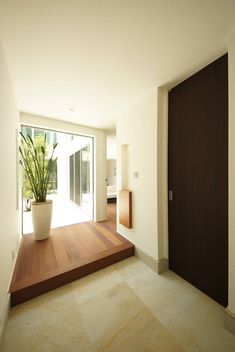 future home interior Japanese Modern House, Japanese Interior, Interior Garden, Interior And Exterior, Interior Design, Townhouse Designs, Modern Entry, Entry Way Design, House Entrance