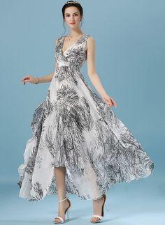 Floral Slip Halter Neckline Maxi A-line Dress