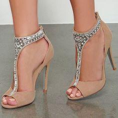Shoespie Elegant Rhinestone Dress Sandals