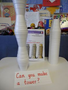 This activity uses Styrofoam cups to make towers. It helps to develop motor skills.