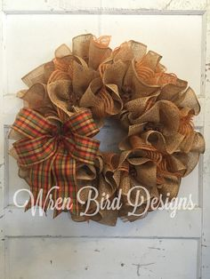 Hey, I found this really awesome Etsy listing at https://www.etsy.com/listing/240658820/burlap-wreath-deco-mesh-wreath-ruffled