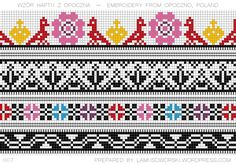 Polish embroidery from Opoczno. See more at lamusdworski.wordpress.com