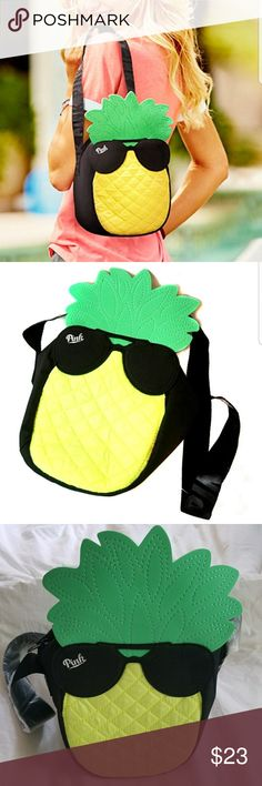 VS Pineapple Cooler Bag Adorable, and in New condition! Plastic still on the strap. Victoria's Secret Bags