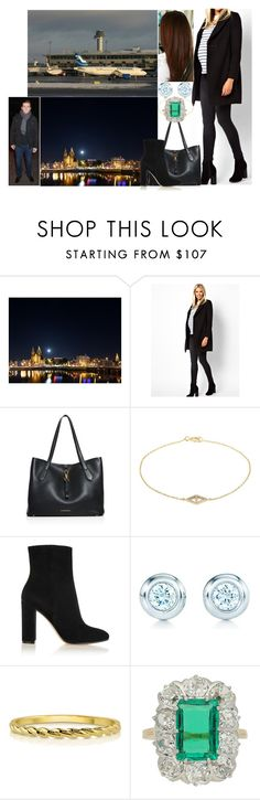 """""""Leaving Denmark and Arriving back in Amsterdam late at night"""" by pompcircumstance ❤ liked on Polyvore featuring ASOS, Burberry, lito, Gianvito Rossi, Tiffany & Co., BERRICLE and Chaumet"""