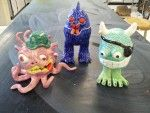 This lesson is a beginning sculpting lesson using the pinch pot method. My students love this project. It is also a favorite among the teachers. They are fun and creative. It really is good for all skill levels as the students choose what they want their monster to look like. https://www.facebook.com/claymonsterpottery My professor and his wife makes monsters. They are local artists. I show my students their work to describe the profession and to show a great example of craftsmanship.