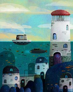 Digital Print on Paper Painting For Kids, Painting & Drawing, Francisco Fonseca, Digital Prints, Digital Art, Street Artists, Aesthetic Art, Watercolor Illustration, Underwater