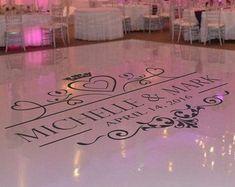 Dance Floor Decal Wedding Wedding Floor Monogram by SignJunkies Wedding Logos, Monogram Wedding, Personalized Wedding, Motocross Baby, Floor Decal, Floor Stickers, Wedding Places, Wedding Place Cards, Dance Floor Wedding