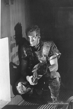 Aliens - publicity still of Michael Biehn.
