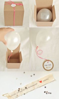 Repinned: This is a really cute idea for any surprise :) #Wedding  For asking friends to be bridesmaids!