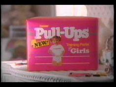 Girls Pull-Ups 1990's