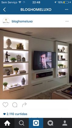50 Modern and Classic Living Bookcases - Home Decor - Living room tv wall - Built In Shelves Living Room, Living Room Wall Units, Living Room Tv Unit Designs, Living Room Cabinets, Living Room With Fireplace, Home Living Room, Living Room Decor, Wall Unit Designs, Tv Cabinets