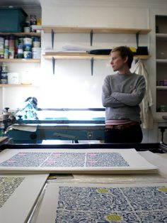 The old screenprinting studio by Eleanor Rudge, via Flickr