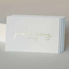 business cards for jennifer young / design by jessica comingore, printing by presshaus la.