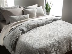 Designer Bedding Sets On Sale Key: 5436928625 Dinosaur Toddler Bedding, Grey Duvet, Luxury Bedding Sets, Mattress Protector, Pearl Grey, California King, Bed Sheets, Duvet Covers, Bedroom