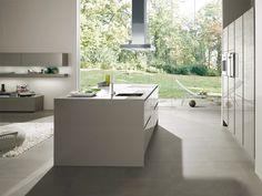 Aluminium #kitchen with island S2 by SieMatic Italia