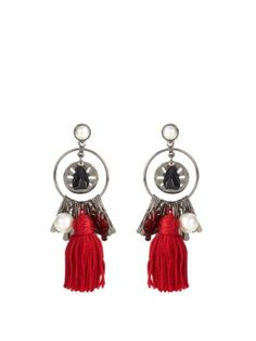 Tassel and charm earrings | Oscar De La Renta | MATCHESFASHION.COM
