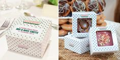 These Krispy Kreme doughnut favours are available in personalised boxes for an extra sweet touch