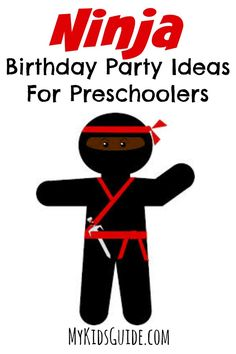 If you have a budding Ninja on your hands, then these Ninja Birthday Party Ideas For Preschoolers will be a great way to celebrate their special day.  Whether they want to dress up, pretend to be sneaky in the night, or simply flight the bad guys away, you can appeal to them with these fun ninja themed party ideas