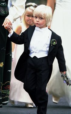 Page boy Marius Borg Høiby; wedding of Crown Prince Haakon of Norway and ms. Mette-Marit Tjessem Høiby, August 25th 2001