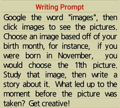 Writing prompt idea