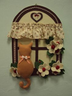 Immagine correlata Cd Crafts, Felt Crafts, Diy And Crafts, Paper Crafts, Christmas Makes, Christmas And New Year, Clay Wall Art, Christmas Crafts For Gifts, Fairy Doors