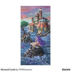 Mermaid Castle Card by Traci Van Wagoner.