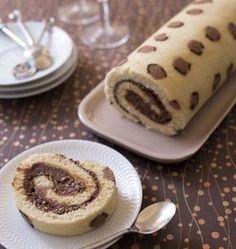 Photo de la recette : Gâteau roulé Léopard à la mousse au chocolat praliné