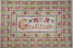 Cross Stitch Pattern, Gratitude, European Crosstitch Collection, Sampler #EuropeanCrosstitchCollection #Sampler