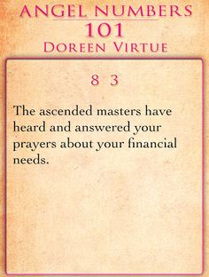 MAXMILLIAN THE SECOND: Angel Numbers For The Day - Doreen Virtue