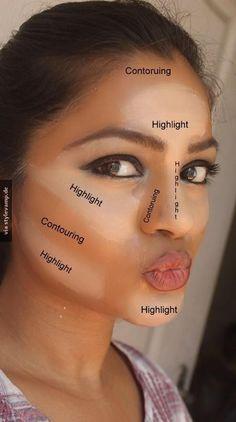 Verhelfe deinem Gesicht zu erkennbaren Konturen!