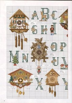 cuckoo clocks alphabet chart  (part 1)
