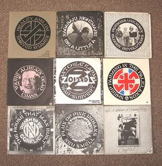 CRASS records [CRASS, Zounds, Flux of Pink Indians, Conflict,] by asboluv, via Flickr