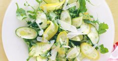 This zucchini carpaccio is inspired by a recipe from The River Cafe Cook Book by Ruth Rogers and Rose Gray. Lemon Recipes, Top Recipes, Real Food Recipes, Salad Recipes, Cooking Recipes, Cafe Recipes, Vegetable Sides, Vegetable Recipes, Vegetarian Recipes