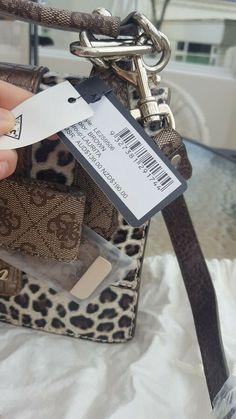 Guess Laurita Leopard Print Purse / Bag With Bow Chain Strap Satchel Brand... #Ad , #Advertisement, #Print#Purse#Leopard