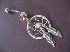 Pink Dream Catcher Belly Button Ring Dreamcatcher by Azeetadesigns, $17.20. I WANT THIS!