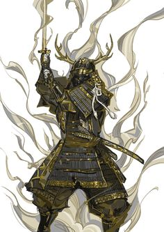 Fantasy Samurai, Samurai Concept, Samurai Anime, Armor Concept, Fantasy Armor, Character Design Teen, Fantasy Character Design, Character Art, Urban Samurai
