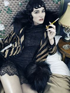 Josephine le Tutour in Beauty for Vogue Italia, November 2013 Shot by Emma Summerton Styled by Patti Wilson