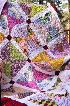 Modern Paris Bazaar HANDMADE Lap Throw Quilt by PiecesOfPine
