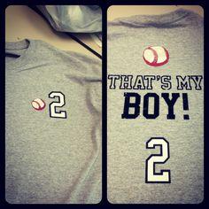 Baseball shirt to cheer on my little boy... #2!