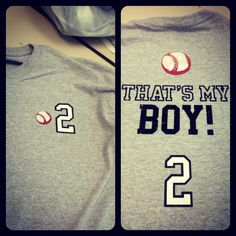 Baseball shirt to cheer on my little boy... #2!