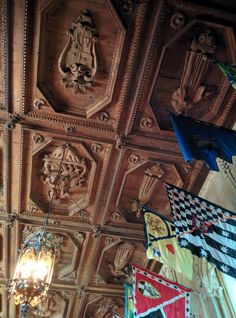 Carved ceiling from Hearst Castle