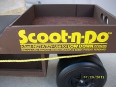 CHILLICOTHE Vintage ONE OF A KIND SCOOT N DO Before Patent DAD,S COLLECTIONS