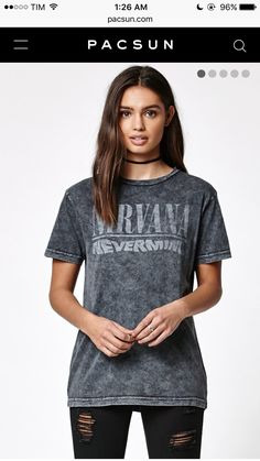 786f16d8df96 This Nirvana Graphic T-Shirt puts you front and center on the daily. It  offers an acid wash with a ribbed crew neckline