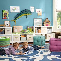 marine wall paint, serenaandlily.com  May e a little more grey.   for playroom