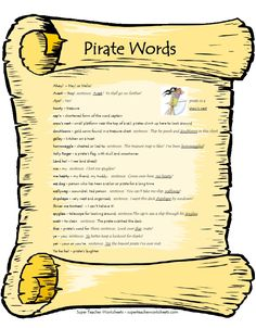 Arr mateys! Today is talk like a pirate day!!